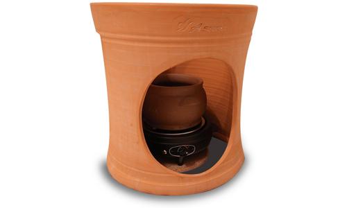 アスカ製 黄土座器と黄土壺
